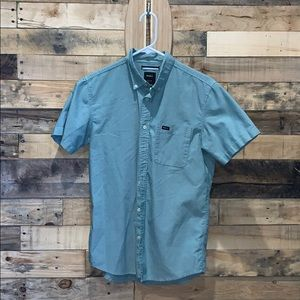 Off-Green RVCA Button-Up